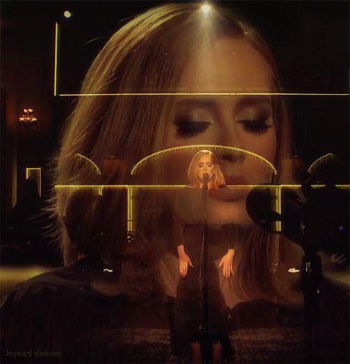 Double exposure - Adele SNL hayward simmons