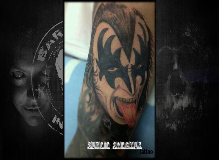 #tattoo #tattooist #tattooed #bestspaintattooartist #blackandgreytattoo #genesimmons #genesimmonstattoo #kiss #kisstattoo