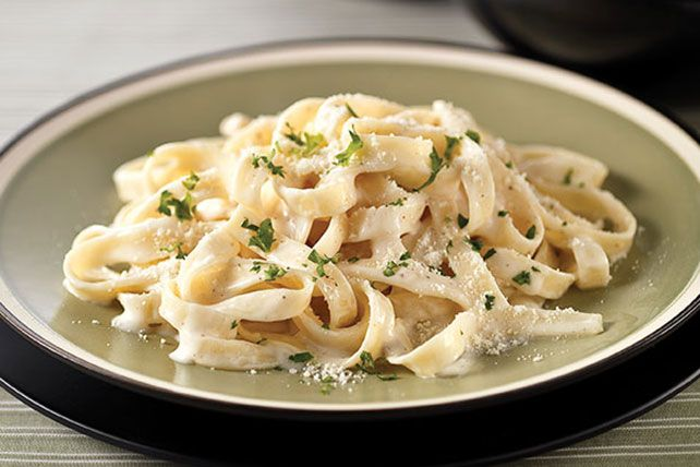 Try our HEALTHY LIVING Fettuccine Alfredo with a delicious and creamy alfredo sauce. The creamy alfredo sauce is super-simple to make and not too rich.