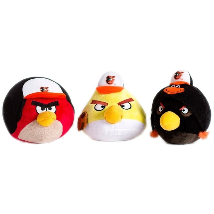 Simon Sez Baltimore Orioles Angry Birds for dogs combines team spirit with your favorite characters from Angry Birds into a fun plush toy for your best four-legged baseball fan. Officially licensed. Sold as each.
