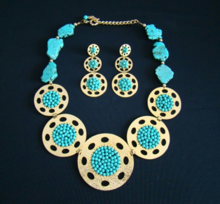 Turquoise. #glam #jewerly #chic #fashionista #fashionblog