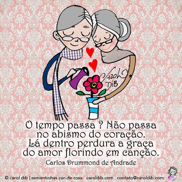 Poesia de Carlos Drummond de Andrade, ilustraçao de Carol Dib.