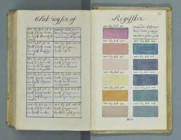300 anni prima di Pantone... in un antico manoscritto olandese è stata trovata una guida ai colori con centinaia di campioni illustrati a mano. #colors