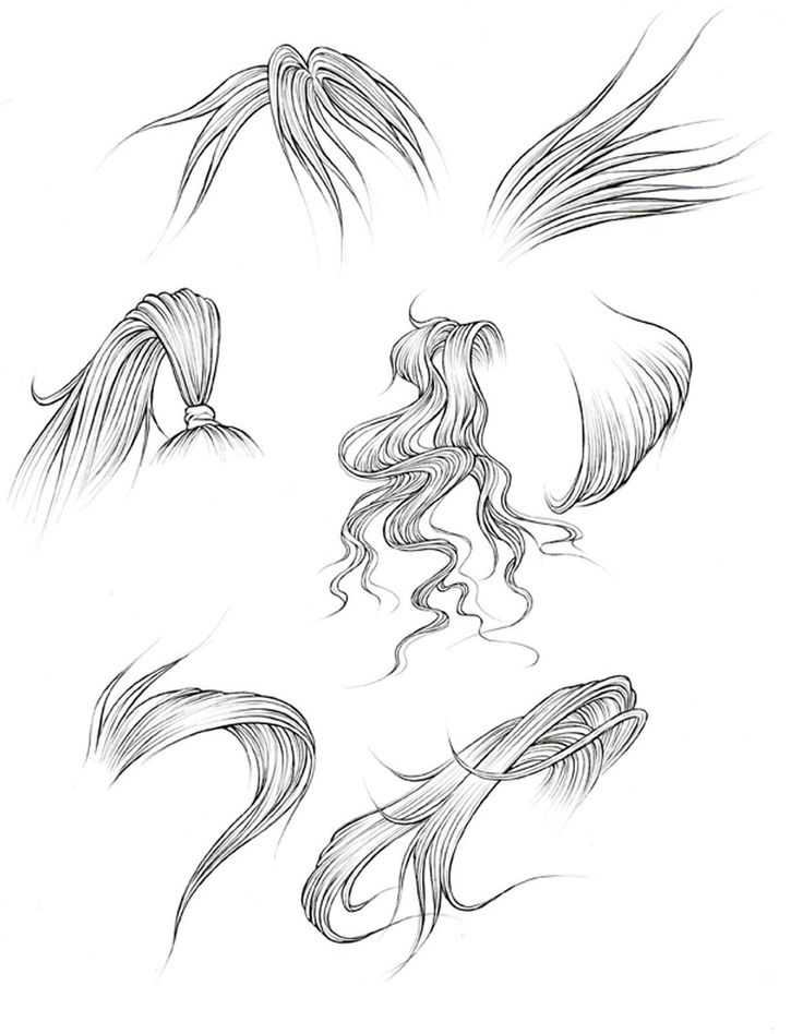 Image result for how to draw hair how to draw hair