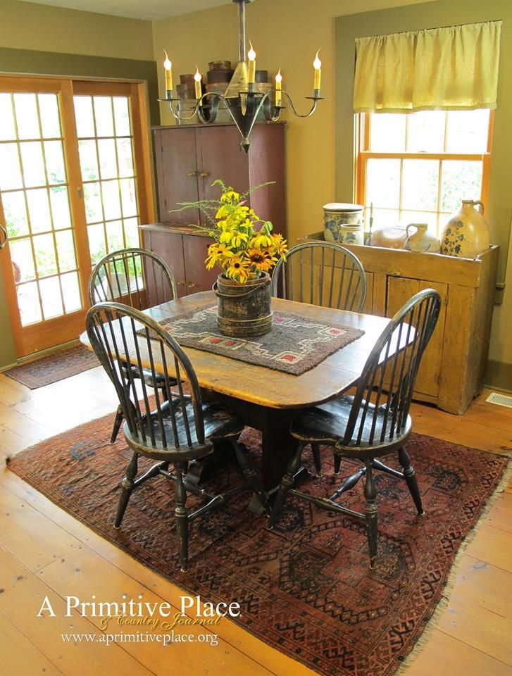 A Primitive Place Country Journal Magazine Dining RoomsPrimitive DecorPrimitive