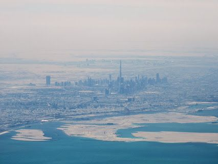 Dubai from an airliner