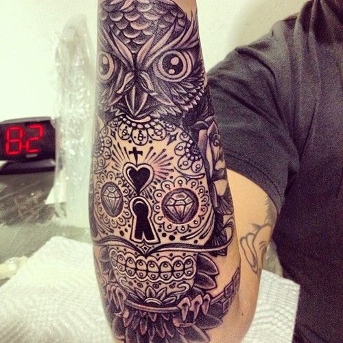 Skull Owl Tattoo...