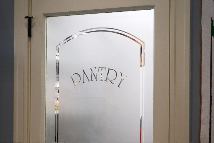 """maple frosted glass pantry door for contemporary kitchen 