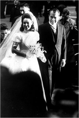 President Richard M Nixon and daughter Julie on her wedding day...