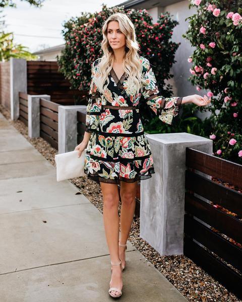 e03c4ed8d857 Zest For Life Floral Lace Dress - Black in 2019 | philanthropy day ...