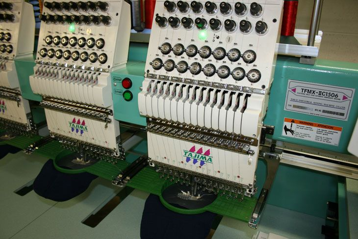 Our top-notch Tajima embroidery machines.