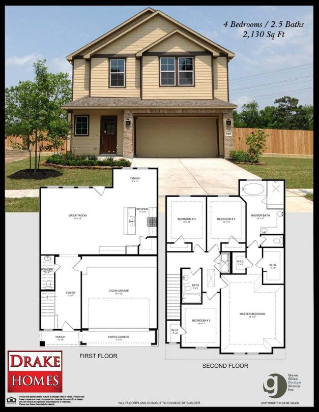 1104 Hackney, Houston, Texas Magnolia Gardens by Drake Home Inc. Sq. ft.: 2130 Bedrooms: 4 Bathrooms: 2.5