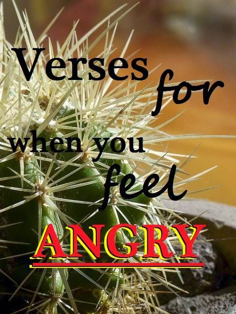 Feeling a little prickly? :) Here are a few reminders from God's word on anger. #printable #Godsword