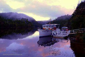 Sunrise on the Pieman River, Corinna, Tasmania