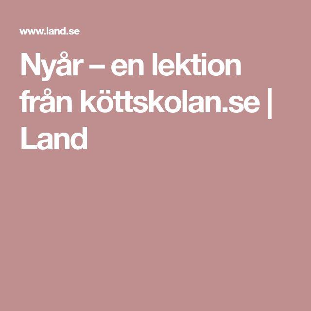 Nyår – en lektion från köttskolan.se   Land