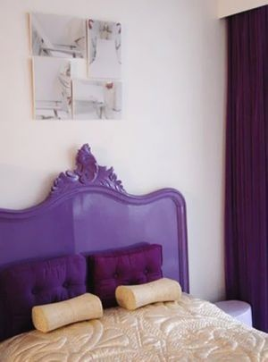 Purple mauve lilac photos - Bed with purple bedhead | www.myLusciousLife.com