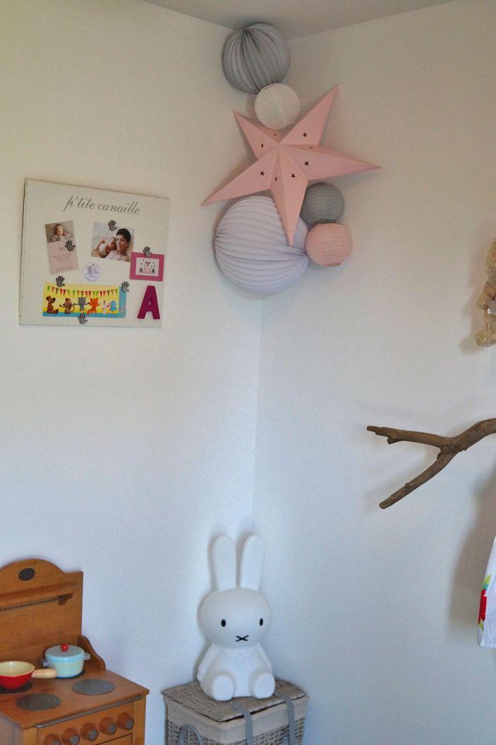 Un grand merci à Anne-Laure pour les photos de la chambre d'Anna, superchoux! La photo de naissance est l'oeuvre de Cocoon Photo. Une composition parfaite pour une chambre douce de bébé fille: - u...