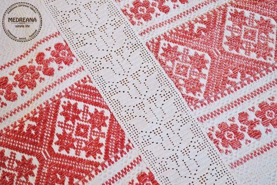 Vintage Romanian handwoven and handembroidered by Medreana on Etsy, $375.00