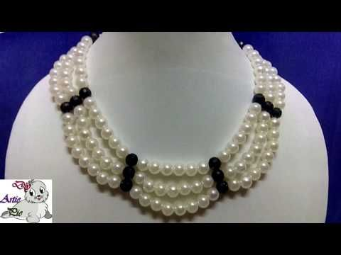 #27 How to Make Pearl Beaded Necklace || Diy || Jewellery Making - YouTube
