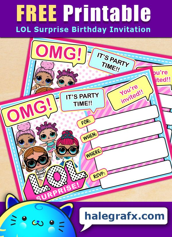 Lol Surprise Birthday Invitation Etsy Surprise Birthday Invitations Happy Birthday Cards Birthday Invitations