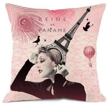 Coussin Paris avec intérieur Bonjour mon Coussin