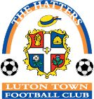 Luton Town Emblem 1994- 2005 - Known as the 'arched rainbow one'. Classic Kohler years disaster piece.