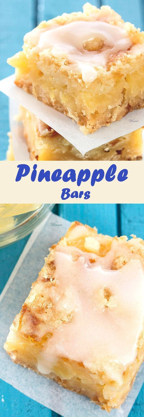 Pineapple Bars.  Very easy to make and super delicious - Pineapple Bars (English version included) http://www.winnish.net/2016/02/8107/