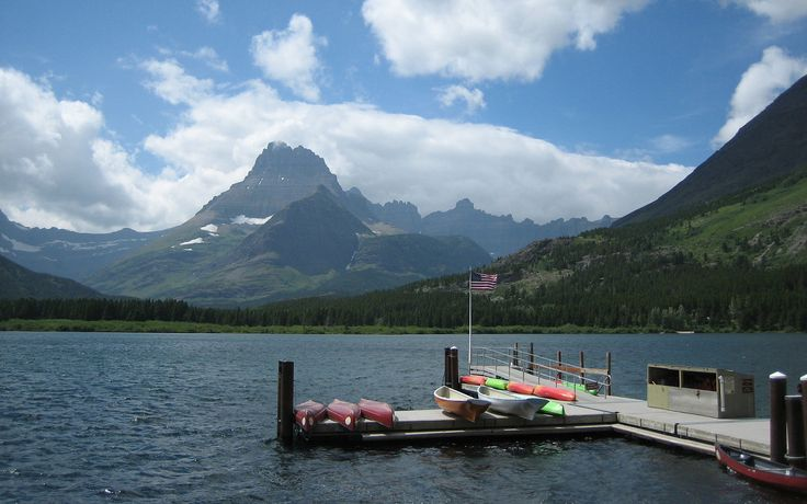 """Swiftcurrent Lake, in front of Many Glacier Hotel, Montana."" —Kathy Roberson, Copy Chief"