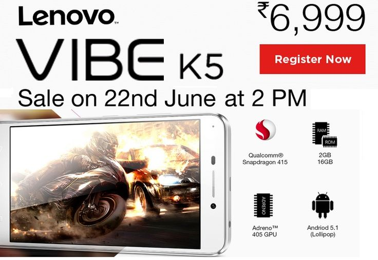 Get Stylish with the Latest Lenovo Vibe K5! 2GB DDR3 RAM, 16GB storage, expandable up to 32GB and a 5-inch HD display.  #Lenovo ‪#VibeK5‬