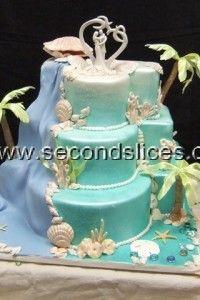 #wedding #Cakes #Blue #beach #Ocean
