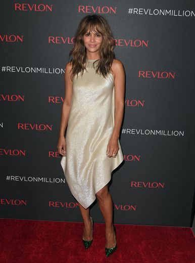 Halle Berry shimmered on the red carpet for Revlon's 2nd Annual LOVE IS ON Million Dollar Challenge finale party.