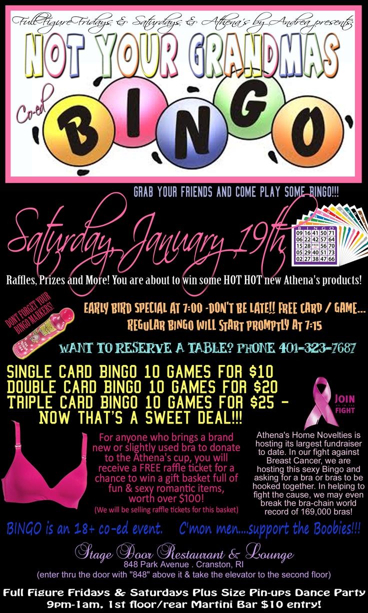 not your grandmas bingo  adult toy bingo  saturday