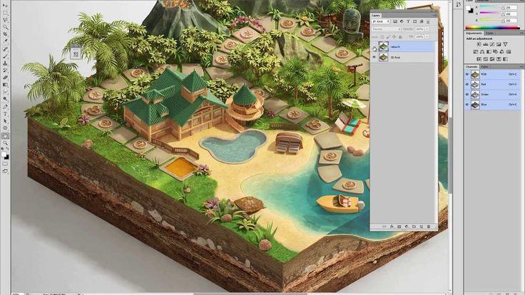 "Making of ""Disney Vacation Club"" Digital Board Game Tutorial by Piotr Kolus  http://www.cgmeetup.net/home/making-of-disney-vacation-club-digital-board-game/"
