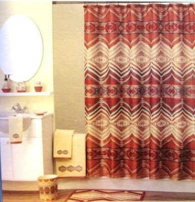 Fabric Essential Homes Pecos Canyon Southwest Design Shower Curtain Shower Curtains