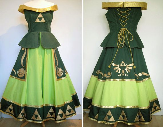Legend of Zelda inspired dress... can someone either buy this for me or make it? cause ill love you forever if you do
