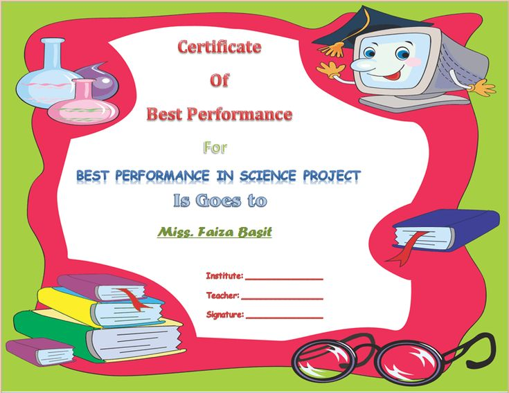 Best science student award certificate template award best science student award certificate template award certificate templates pinterest student awards and certificate yadclub Choice Image
