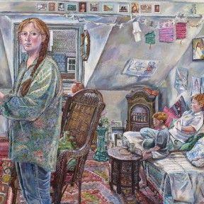 Melissa Scott-Miller 'Self Portrait In Studio'