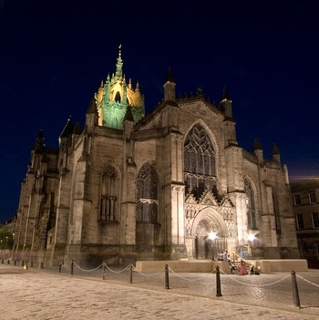 St Giles Cathedral, Edinburgh - 14th - 15th century - on site of a 12th century church