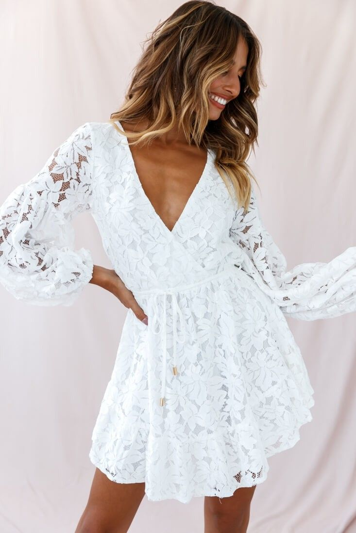 Ever After Keyhole Back Lace Dress White Lace White Dress White Evening Dress Lace Dress With Sleeves [ 1099 x 733 Pixel ]