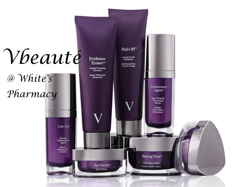 Vbeaute products....only available at White's Pharmacy in the Hamptons