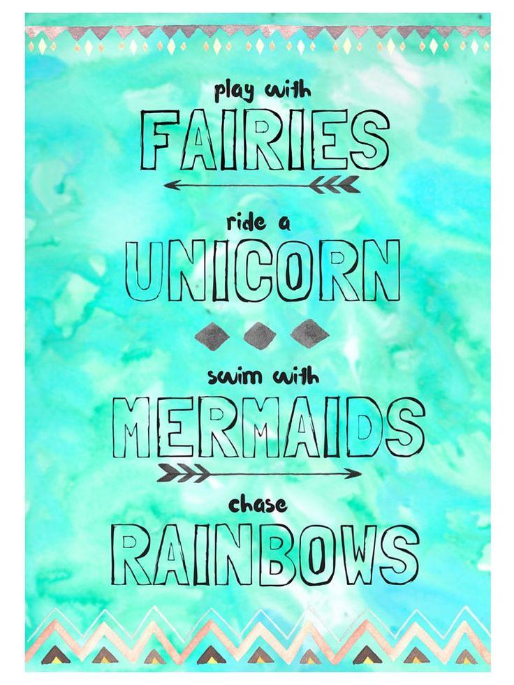 Fairies Unicorns Mermaids Rainbows Digital by HeartMadeByHome
