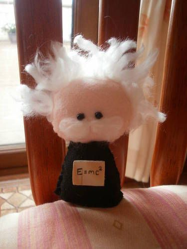 Albert Einstein made out of felt!