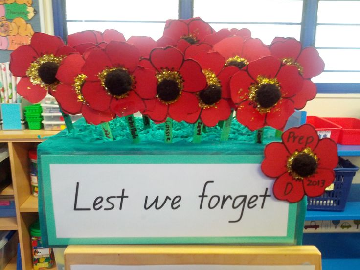 My Prep Class enjoyed making these poppies for ANZAC Day.