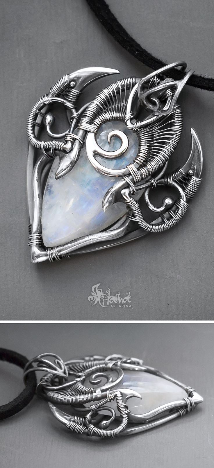 Moonstone pendant // Fantasy pendant // Fantasy moonstone