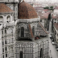 Florence - I was fortunate to go here - my room was literally across from the Duomo, pictured here.  I could've thrown a rock across and hit it!  Here is my video of the bells chiming. LOVE! http://www.youtube.com/watch?v=yE6gT3AfBIQ
