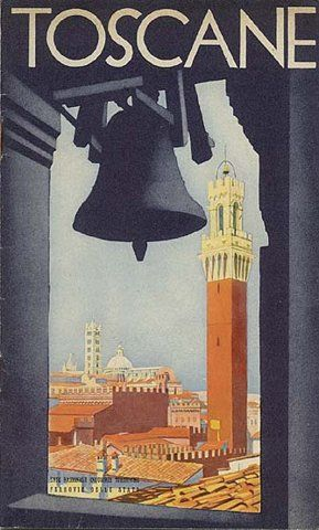 Vintage Italian Posters ~ #Italian #vintage #posters ~ Toscane, 1934  Vintage Travel Poster Italy