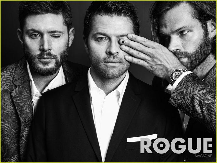 Supernatural Jensen Jared Misha 2015 | Fotos de Jared, Jensen e Misha para a Rogue Magazine | Supernatural Is ...