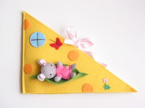 Cinci egér sajtházikója - játszókönyvecske, Baba-mama-gyerek, Játék, Készségfejlesztő játék, Baba, babaház, Meska