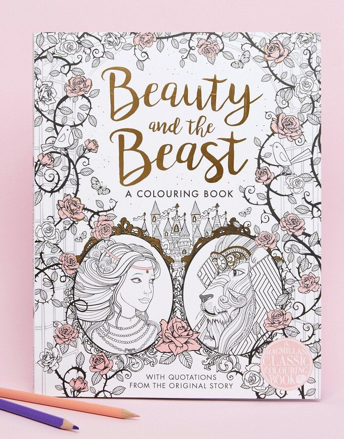 Books Beauty And The Beast Colouring Book Coloring Pages
