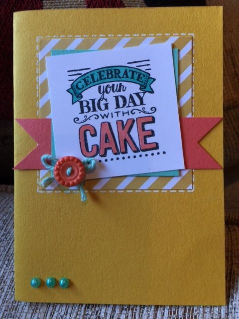 SU! Big Day stamp set; Moonlight DSP; colors are Coastal Cabana, Calypso Coral and Hello Honey - Joanna Hooper